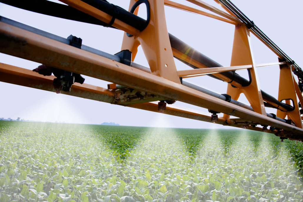 Spraying Soybeans