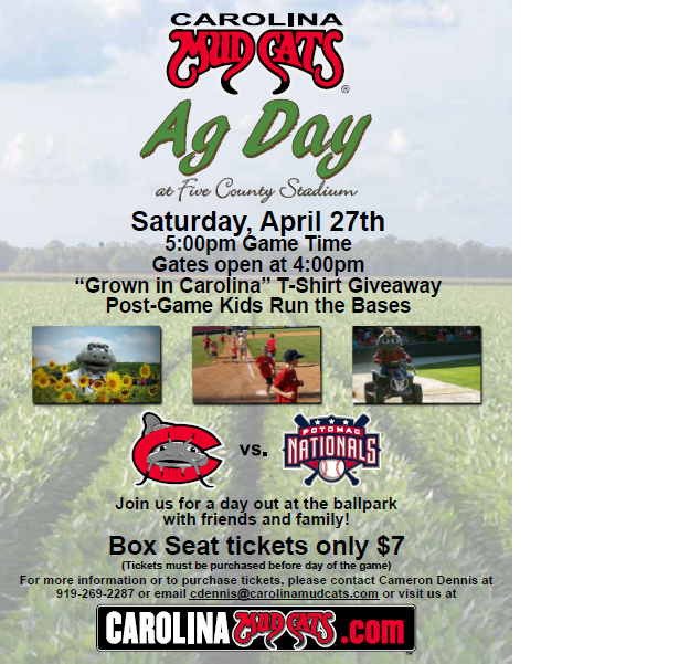 Carolina Mudcats Ag Day